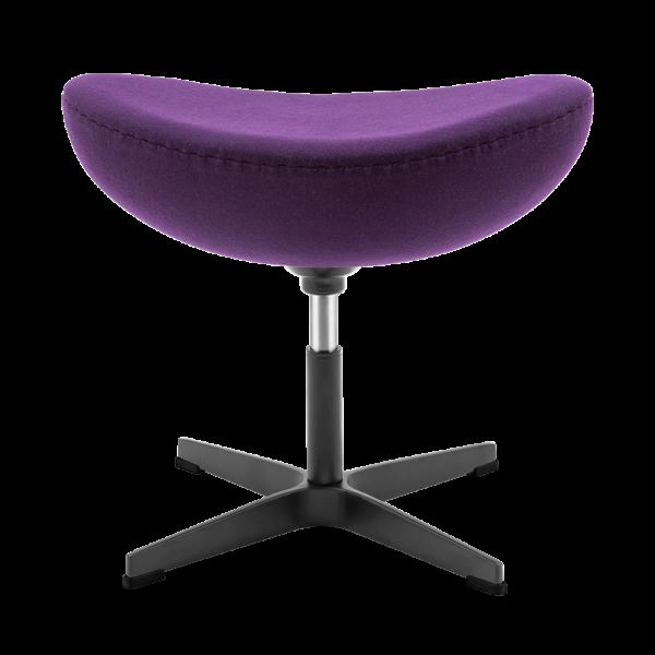 Egg Chair Ottoman / Hocker Paars Kasjmier