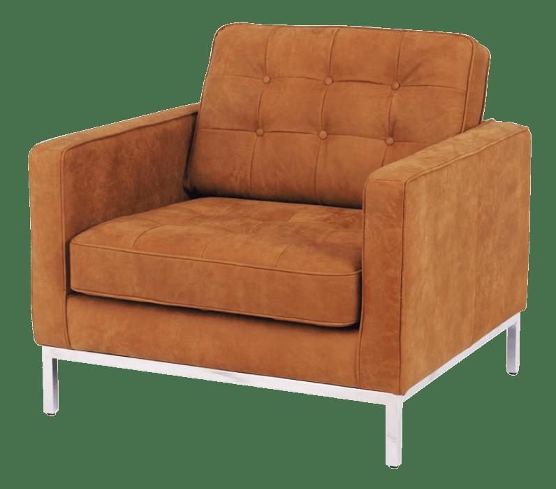 Florence Knoll Chair Vintage Cognac Leer