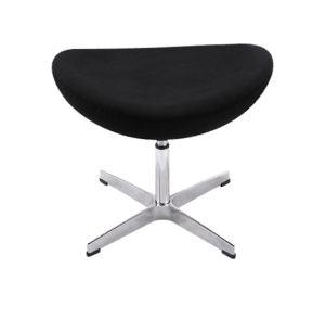 Egg Chair Ottoman / Hocker Zwart Kasjmier