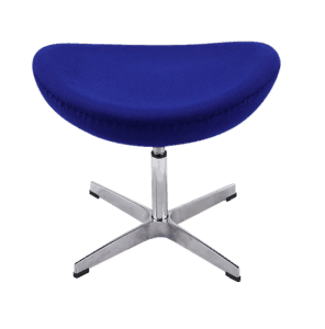 Egg Chair Ottoman / Hocker Blauw Kasjmier