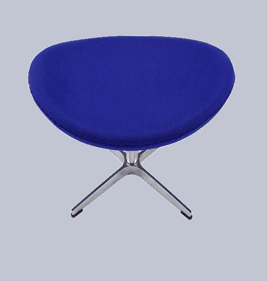 Egg Chair Ottoman / Hocker Blauw Kasjmier
