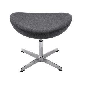 Egg Chair Ottoman / Hocker Donker Grijs Kasjmier