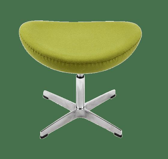 Egg Chair Ottoman / Hocker Groen Kasjmier
