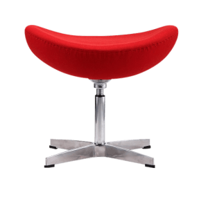 Egg Chair Ottoman / Hocker Rood Kasjmier