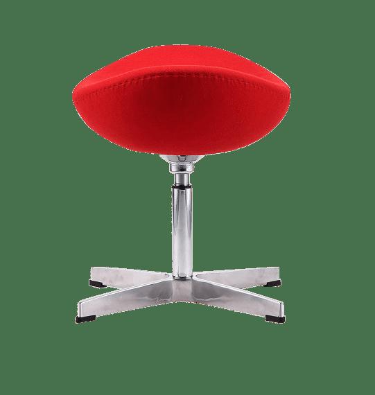 Egg Chair Ottoman / Hocker Rood Kasjmier