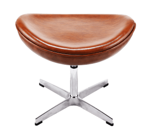 Egg Chair Ottoman / Hocker Cognac / Bruin Leer