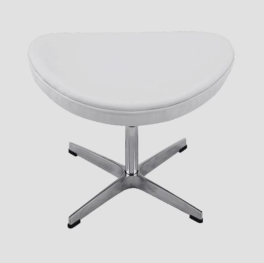 Egg Chair Ottoman / Hocker Wit Leer