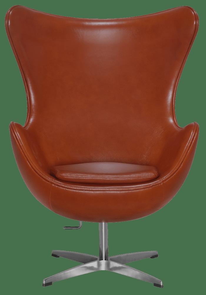 Egg Chair Cognac / Bruin Leer