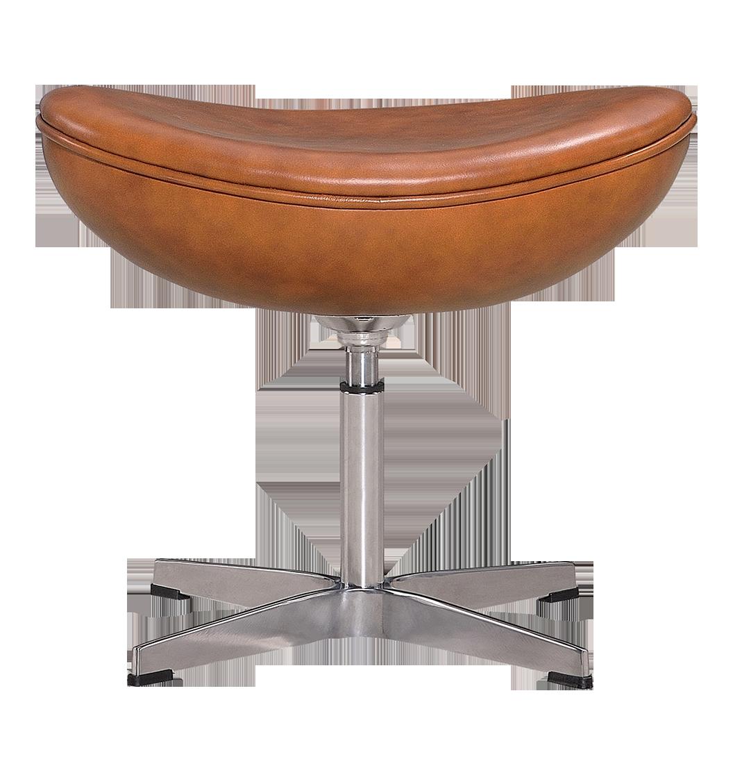 Egg Chair Ottoman / Hocker Cognac / Bruin Leer