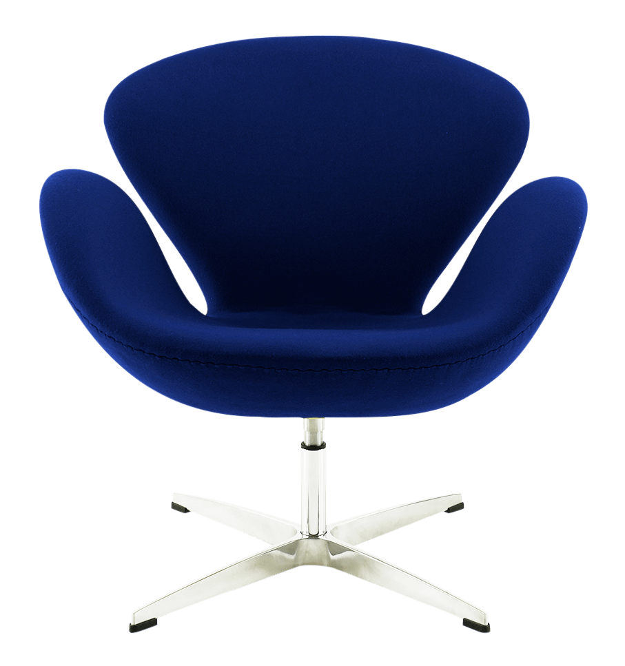 swan chair blauw design meubels kopen