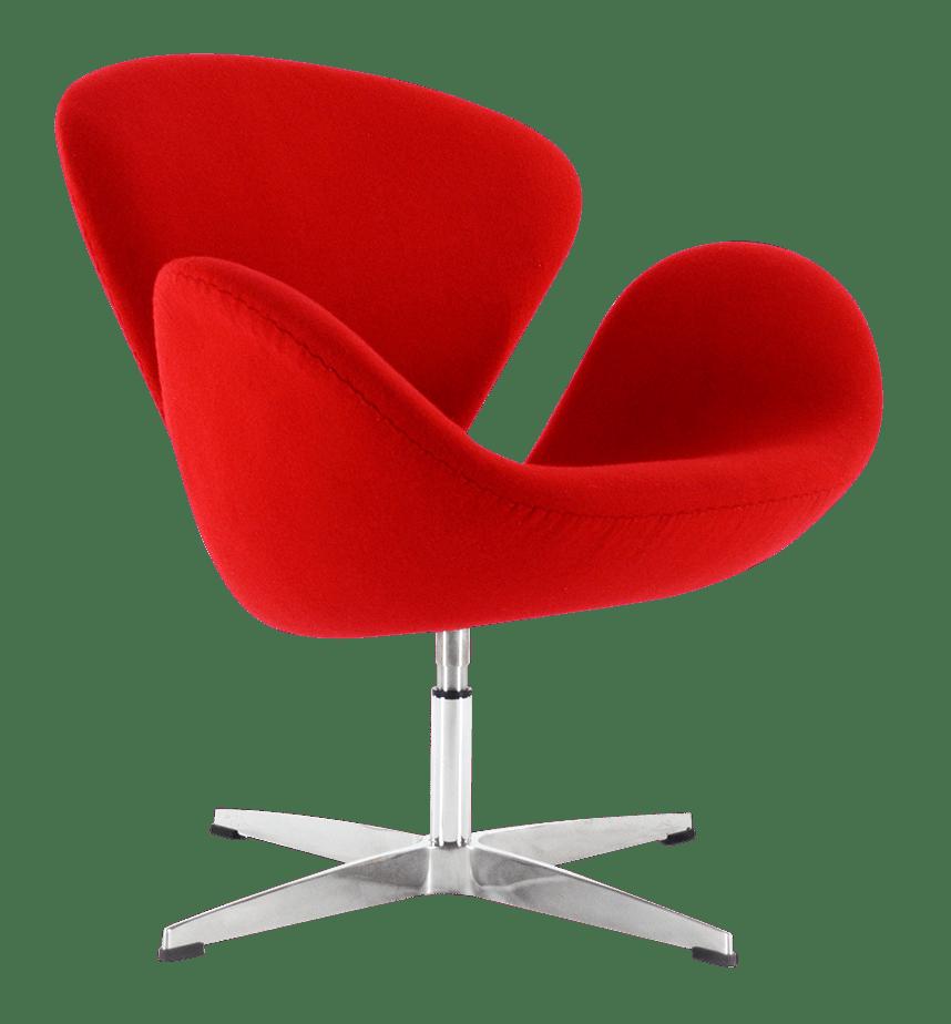 Swan chair replica rood