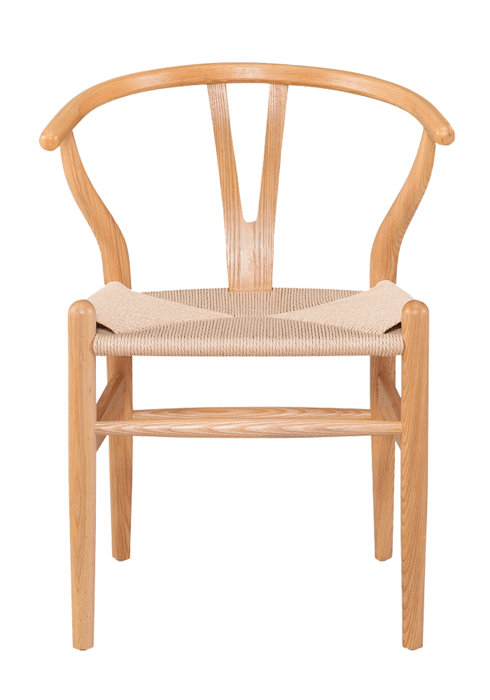 hans wegner design wishbone chair naturel hout
