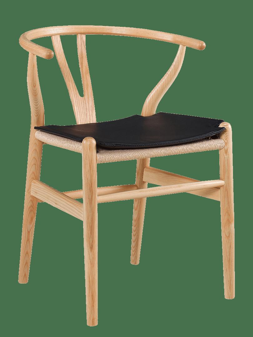 Wegner Wishbone Stoel Seatdot / Kussentje Zwart