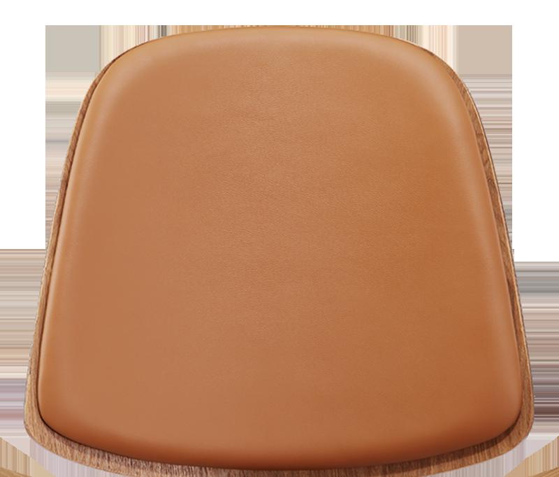Wegner Shell Chair Naturel Essen – Caramel Leer