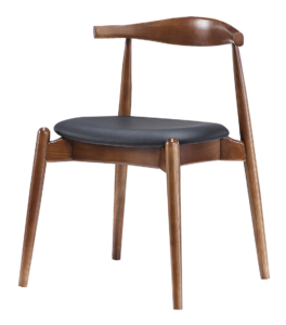 Wegner Elbow Stoel Walnoot