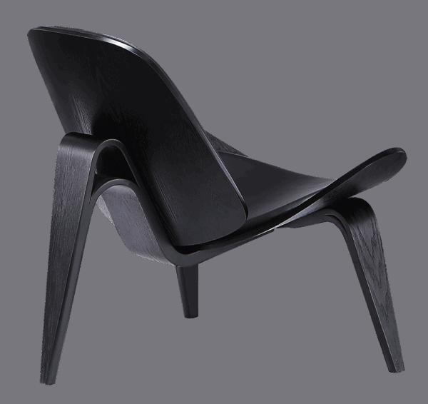 Wegner Shell Chair Full Black