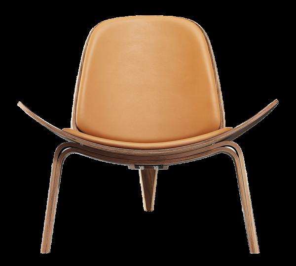 Wegner Shell Chair Walnoot - Caramel Leer