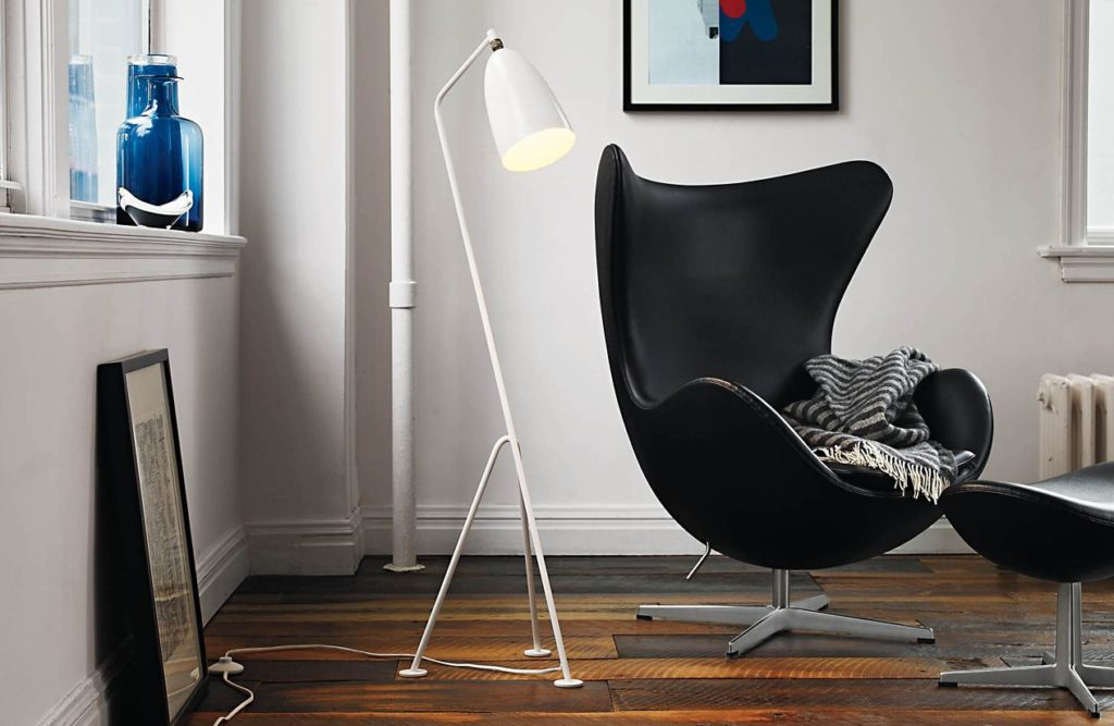 Arne Jacobsen egg chair in scandinavisch interieur