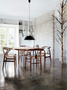 wegner wishbone stoel walnoot hout