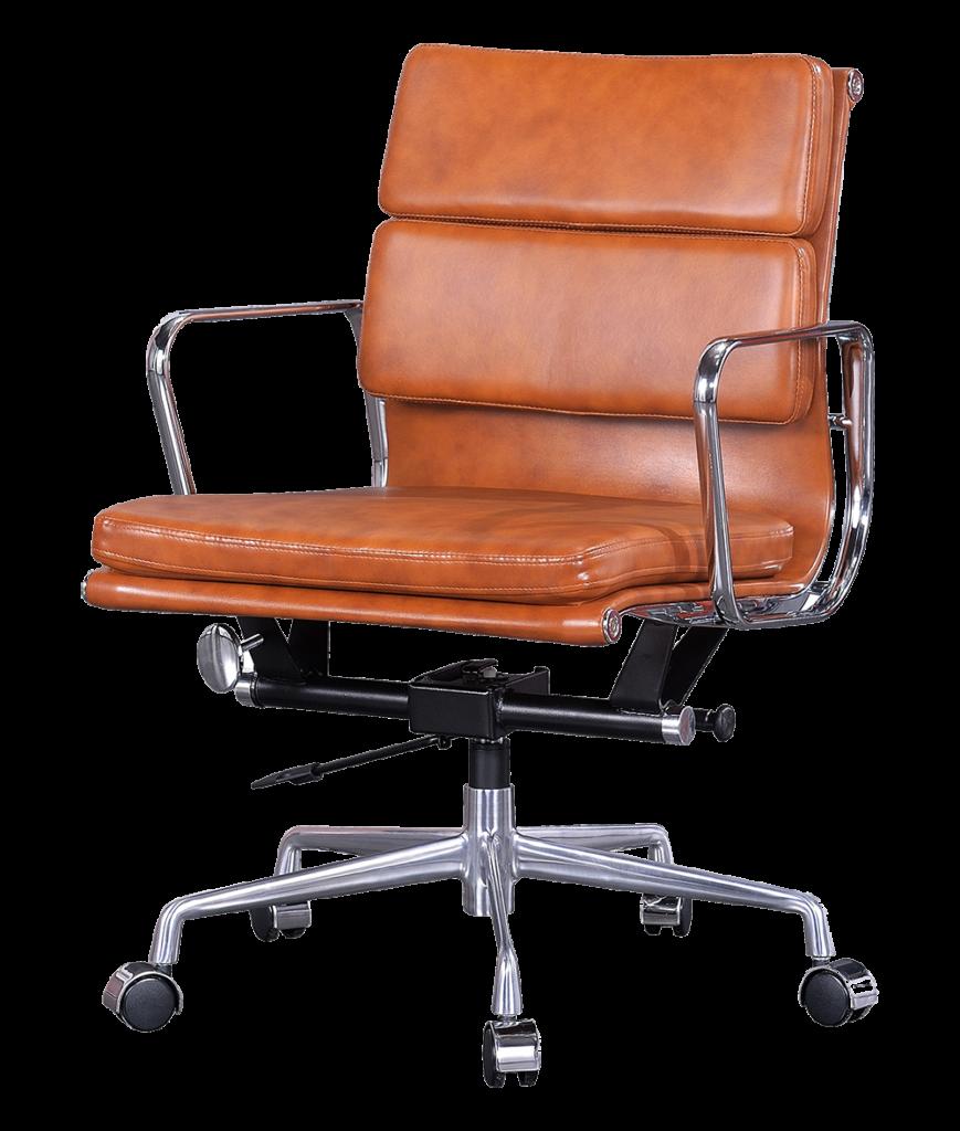 Bruine/Cognac Eames Bureaustoelen