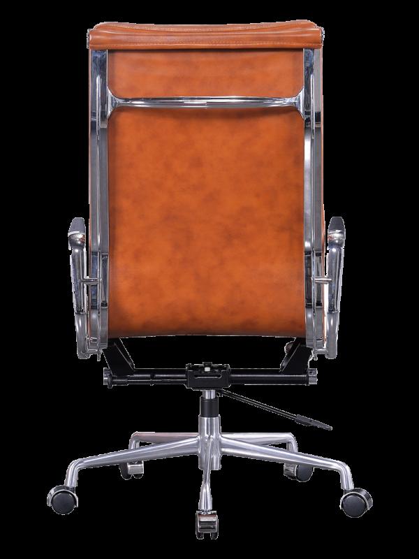 Eames EA 219 Softpad Bureastoel Cognac Leer
