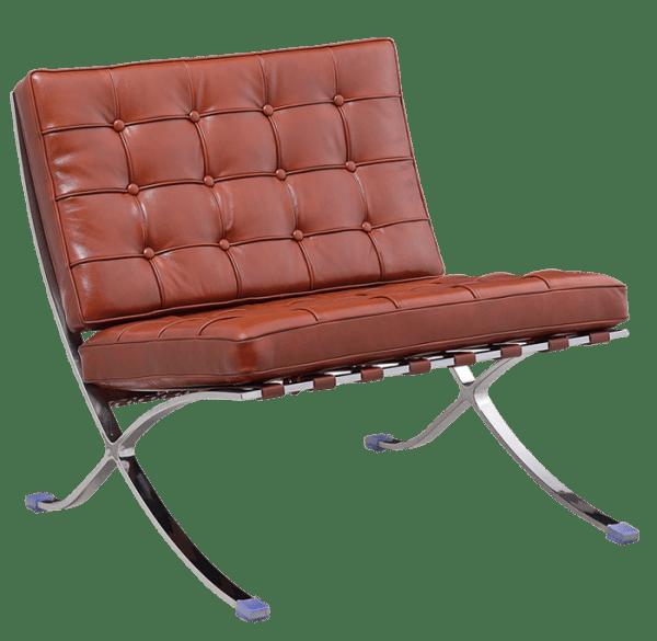 Barcelona Chair Luxe Volleer Cognac Bruin