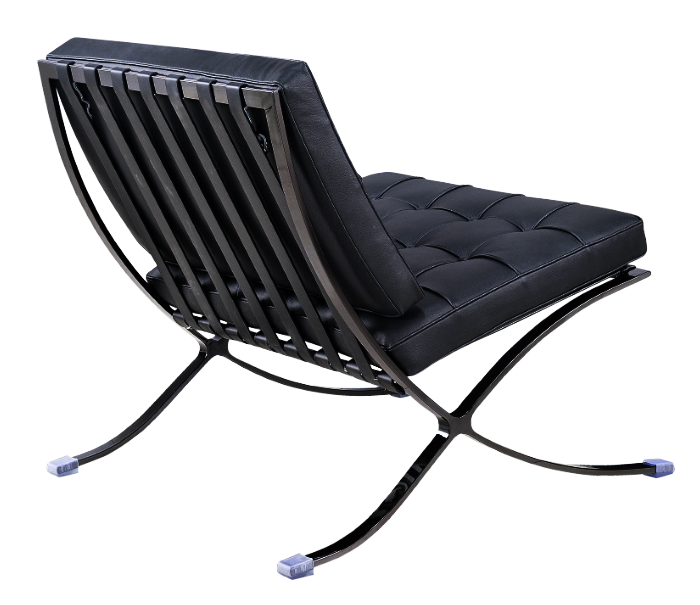 Barcelona Chair Luxe Volleer full black