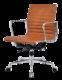 Eames EA 117 Bureaustoel Zwart Leer