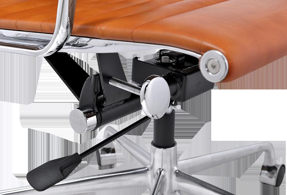 Eames EA 119 Bureaustoel Cognac Leer