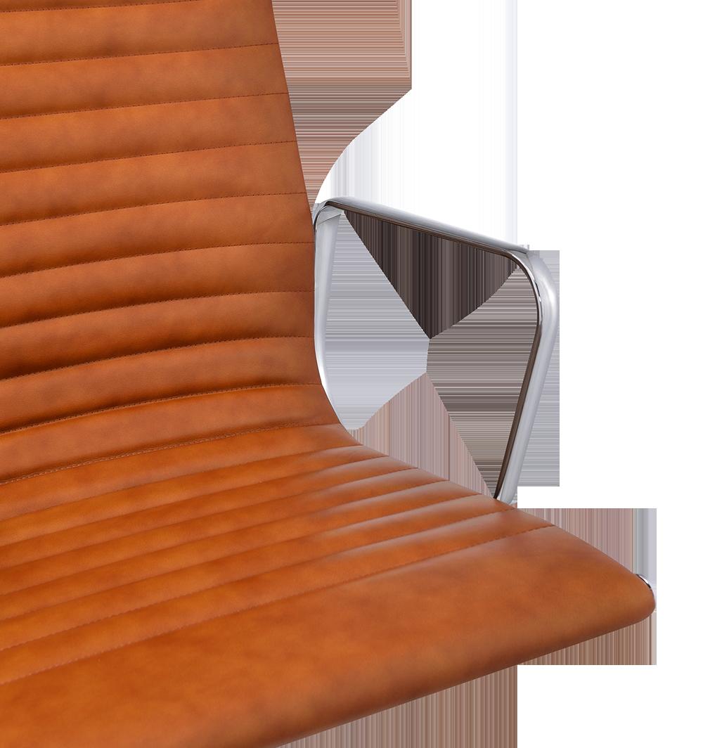 Eames EA 117 Bureaustoel Cognac Leer