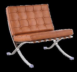 Barcelona Chair Luxe Volleer Cognac/Bruin