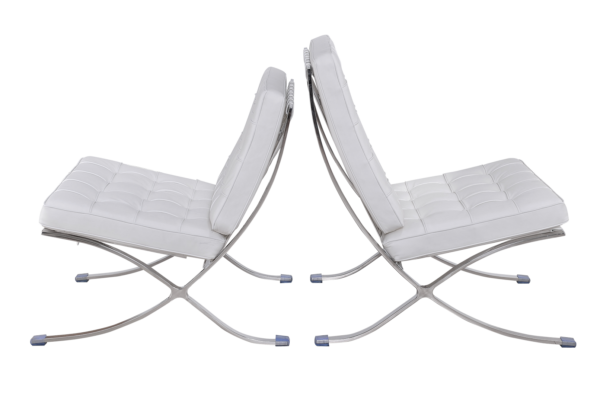 Barcelona Chair XL Wit Leer