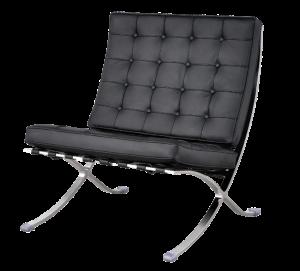 Paviljoen Chair XL Zwart Leer