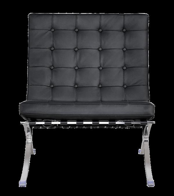 Barcelona Chair XL Zwart Leer