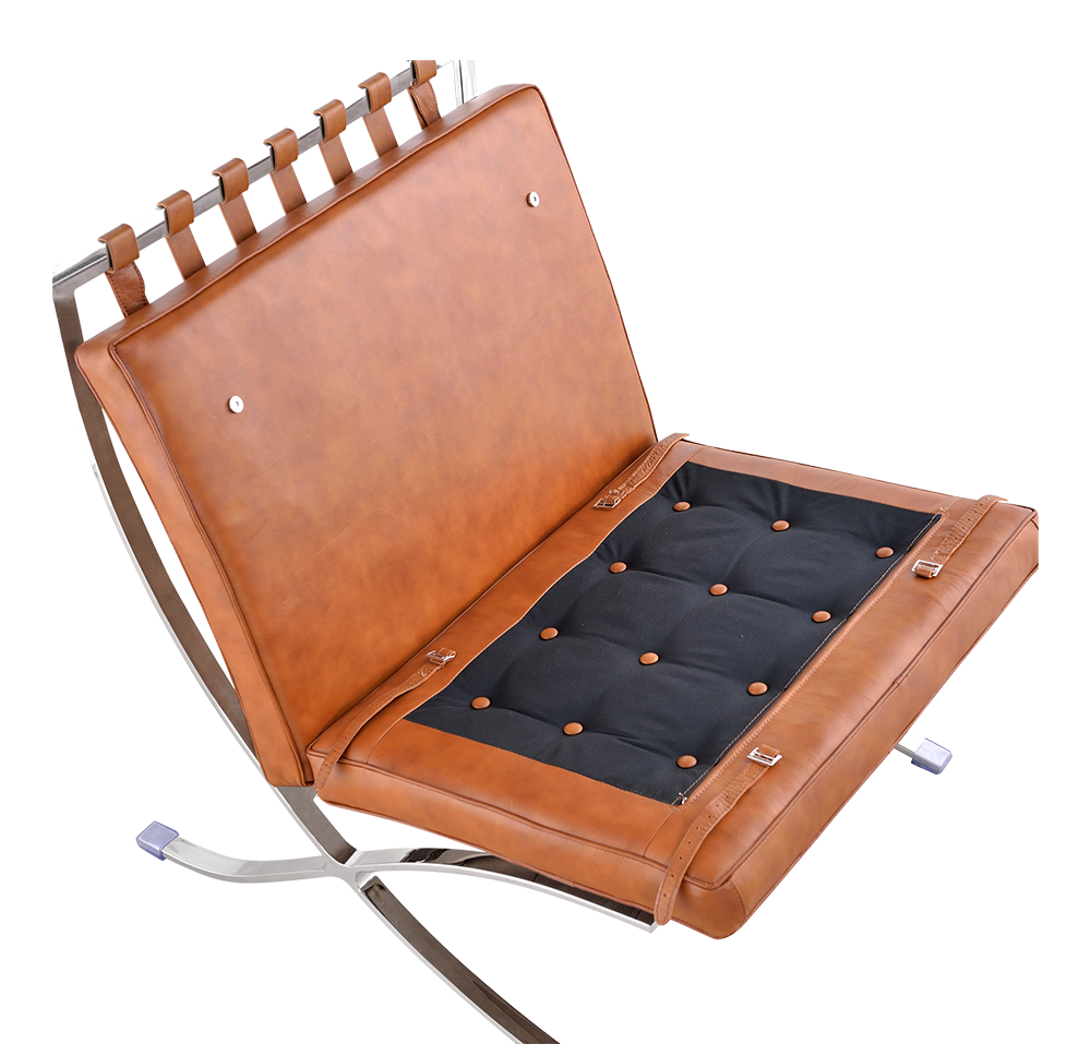 Paviljoen Chair XL Cognac/Bruin Leer