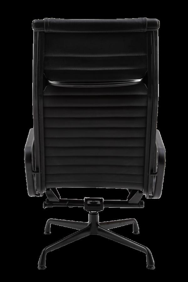 Eames EA 124 Lounge Chair + EA 125 Ottoman Full Black Edition