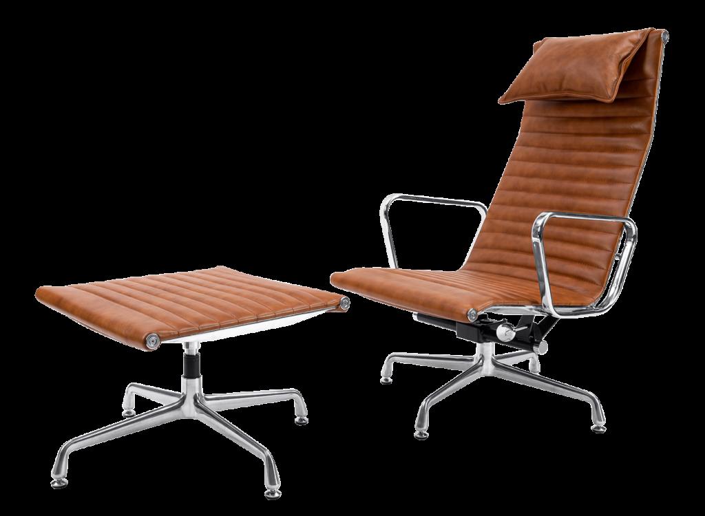 Eames EA 124 Lounge Chairs Met EA 125 Ottoman