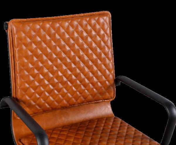 Diamond Softpad Bureaustoel Cognac | Lage Rug