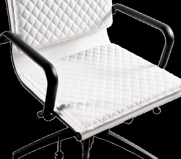 Diamond Softpad Bureaustoel Wit   Hoge Rug