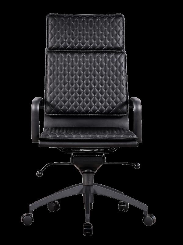 Diamond Softpad Bureaustoel Zwart   Hoge Rug