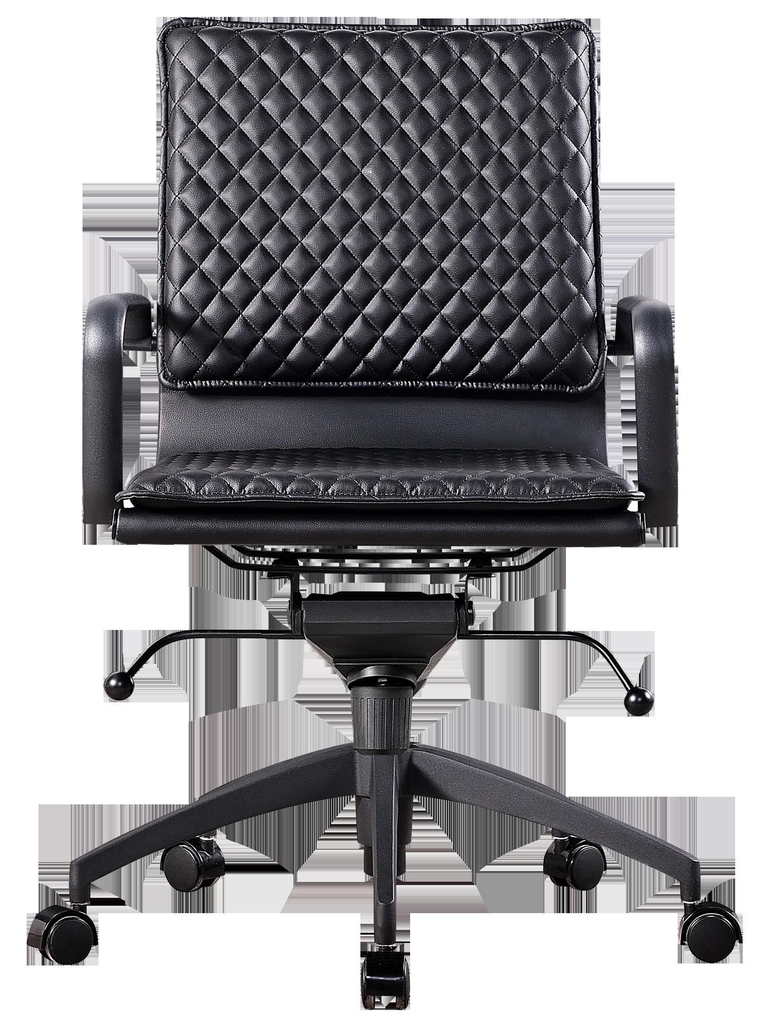Diamond Softpad Bureaustoel Zwart   Lage Rug